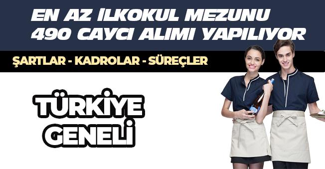 İŞKUR Üzerinden İlkokul Mezunu 490 Çayçı Alınacak! (Bay-Bayan) Yeni İlanlar - Türkiye Geneli