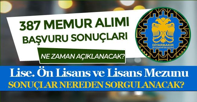 Belediye Lise, Ön Lisans ve Lisans 387 Memur Alımı Sonuçlarını Ne Zaman Açıklayacak? Sonuç Ekranı ?