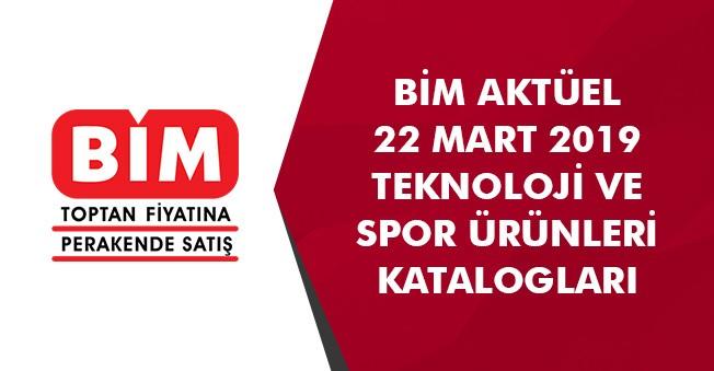 BİM 22 Mart Spor ve Teknoloji Aktüel Ürünler Kataloğu