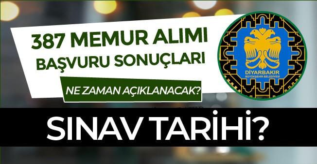 Diyarbakır Büyükşehir Belediyesi 387 Memur Alımı Sonuçları Ne Zaman Açıklanacak? Sınav Tarihi