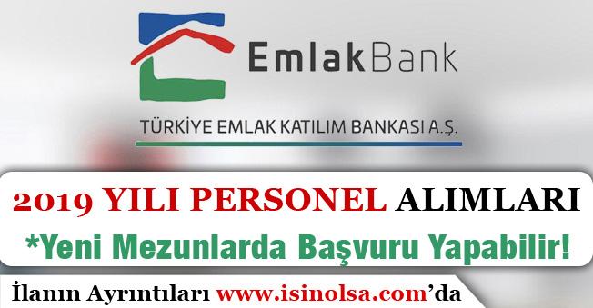 Emlak Bankası 2019 Yılı Personel Alımı Yapıyor! Yeni Mezunlarda Başvuru Yapabilir