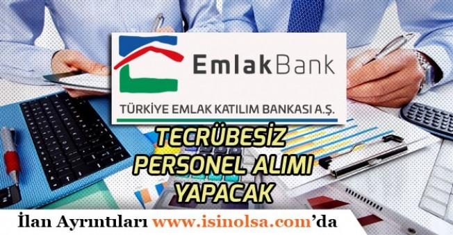 Emlak Bankası Yeni Mezun Tecrübesiz Çok Sayıda Bankacı Personel Alımı Yapacak!