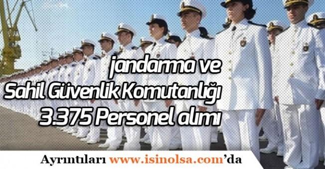 Jandarma ve Sahil Güvenlik Komutanlığı 3.375 Personel Alımı Sonuçları Ne Zaman Açıklanacak?