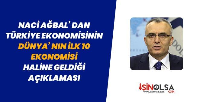 Naci Ağbal' dan Türkiye Ekonomisi Dünyanın İlk 10 Ekonomisi Haline Geliyor Açıklaması