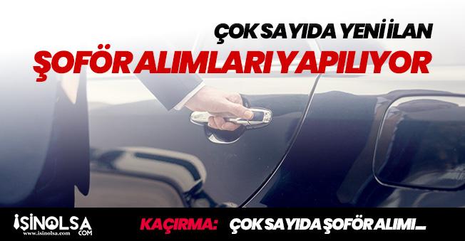 Türkiye Geneli Şoför Alımları (Ambulans, Tır, Makam ve Servis)