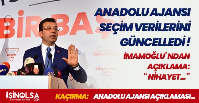 Anadolu Ajansı Seçim Sonuçlarıyla İlgili Açıklama Yaptı! Oy Oranları Değişti