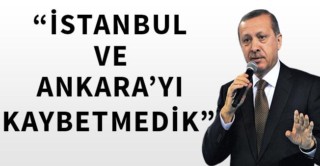 """Cumhurbaşkanı Erdoğan """"Ankara ve İstanbulu Kaybetmedik"""" Dedi"""