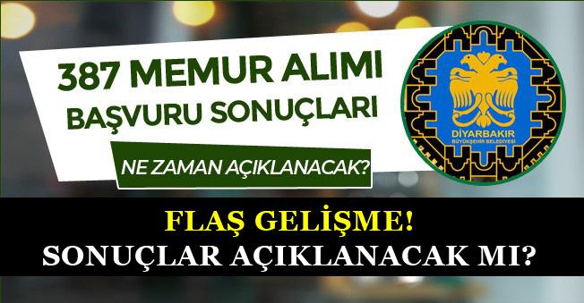 Diyarbakır Büyükşehir Belediyesi Memur Alımı Sonuçlarında Flaş Gelişme! Açıklanacak mı?