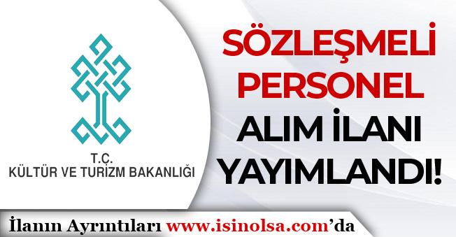Kültür ve Turizm Bakanlığı YTB Sözleşmeli Bilişim Personeli Alım İlanı
