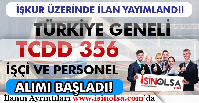 TCDD 356 İşçi Alım İlanı İŞKUR'da Yayımlandı ve Başvurular Başladı! KPSS'siz