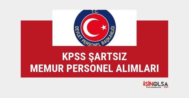 Başvurusu devam eden sınavsız, KPSS'siz DPB memur alım ilanları