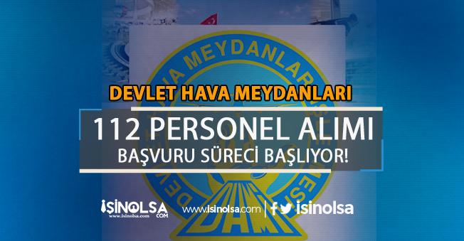 Devlet Hava Meydanları 112 Personel Alımı Başlıyor! Resmi Gazete' Yayımlandı