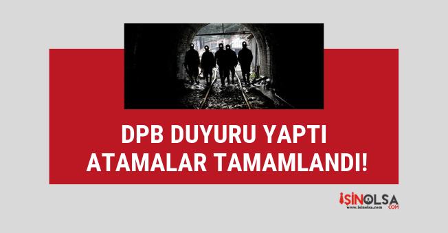 DPB'den güncel atama duyurusu