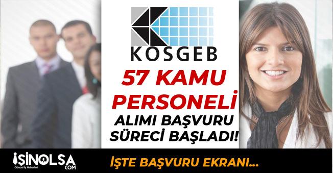 KOSGEB 57 Kamu Personeli Alımı İçin Başvuru Süreci Başladı!