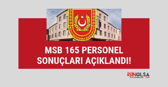 MSB 165 sivil memur alım sonuçları açıklandı, yapılması gerekenler