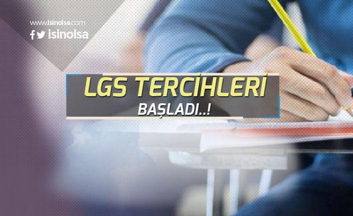 Liselere Giriş Sınavı LGS Tercihleri Başladı!