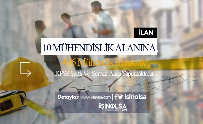 İŞKUR Üzerinden 10 Alanında 500 Mühendis Alınacak!