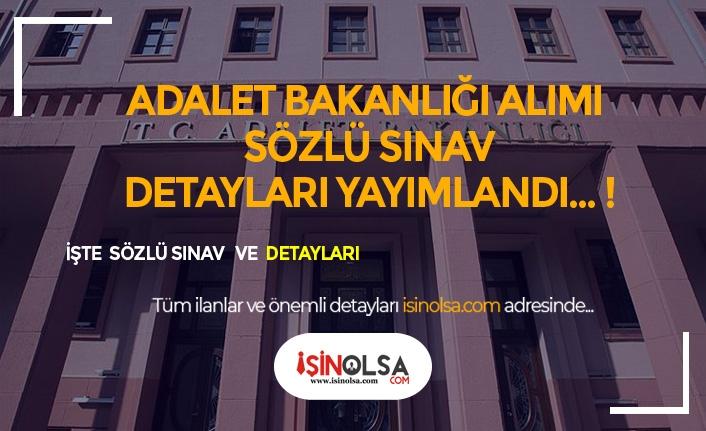 Adalet Bakanlığı Alımı Açıklanacak Sözlü Sınava Dair Detaylar