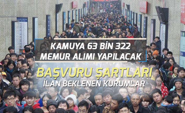 Kamuya 63 Bin 322 Memur Alımı Bekleniyor! Hangi Kurumlara Alınacak?