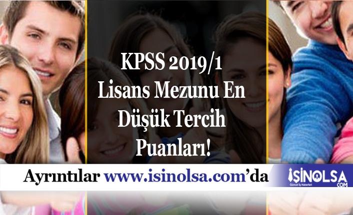 KPSS 2019/1 Lisans Mezunu Memurluk İçin En Düşük Puanlar