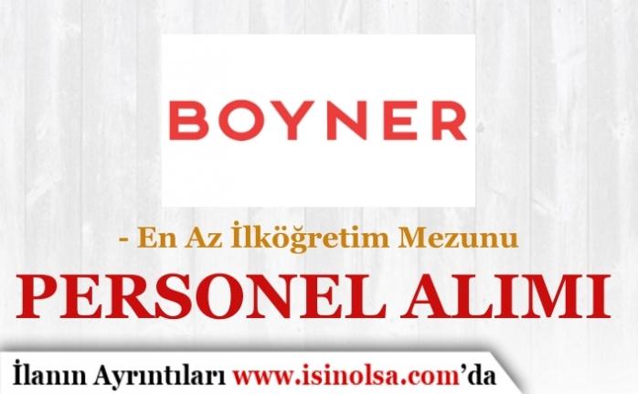 Boyner En Az İlköğretim Mezunu Farklı Pozisyonlarda Personel Alımı 2019