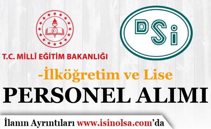 İŞKUR'da Bugün Yayımlandı! DSİ ve Öğretmenevi Kamu Personeli Alıyor