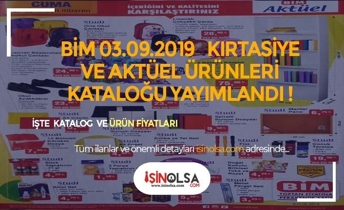 BİM 3 Ağustos Kırtasiye ve Aktüel Ürünler Kataloğunda Ne Var?