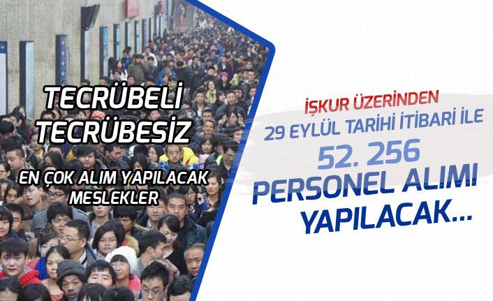 İŞKUR Üzerinden 29 Eylül Tarihi İtibari İle 52 Bin Personel, İşçi Alımı Yapılacak!