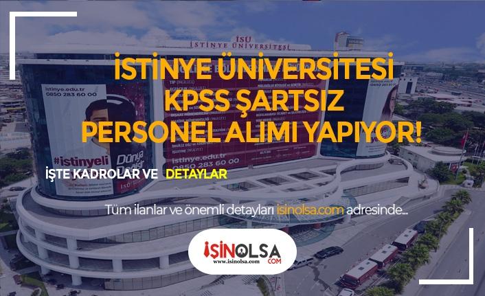 İstinye Üniversitesi KPSS Şartsız Kütüphane, Öğrenci İşleri ve Muhasebe Görevlisi Alımı Yapacak