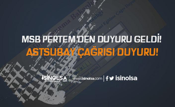 MSB PERTEM'den  Hava Kuvvetleri Komutanlığı Astsubay Temini DK-7 Duyurusu