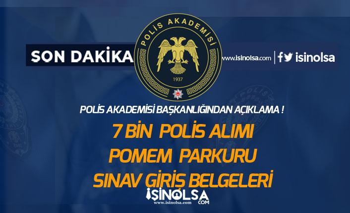 26. Dönem Polis Alımı (POMEM) Sınav Giriş Belgesi ve Parkur Talimatları Açıklandı