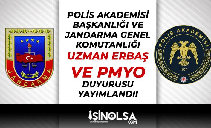 Polis Akademisi ile Jandarma'dan Uzman Erbaş ve PMYO Duyurusu Geldi!