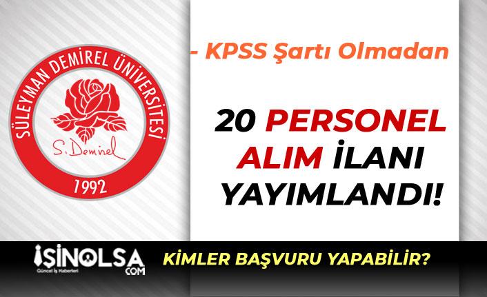 Süleyman Demirel Üniversitesi İlköğretim Mezunu İşçi Alımı Yapacak!