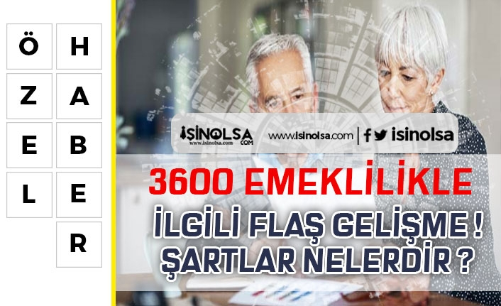 Vatandaşlara 3600 ile Emeklilik Müjdesi! Kadın ve Erkek Vatandaşlar için Şartlar!