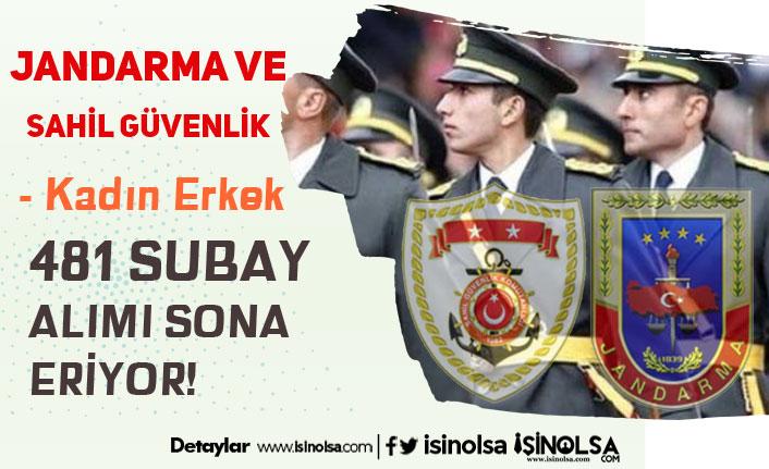 Jandarma ve Sahil Güvenlik 481 Subay ( Askeri Personel ) Alımı Sona Eriyor