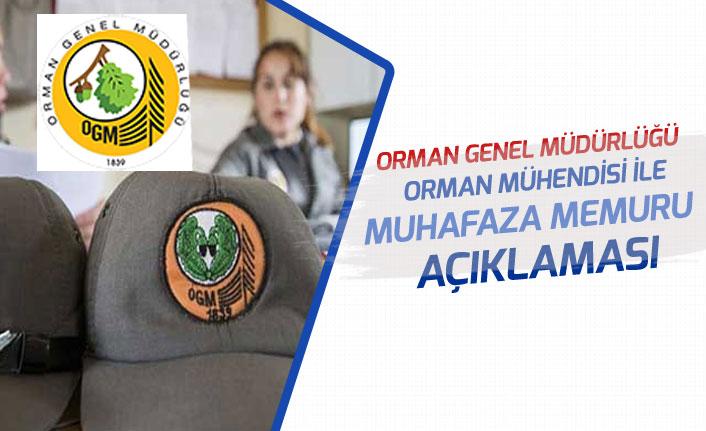 OGM'den 5 Bin Orman Muhafaza Memuru ile Mühendis Personel Alımı Açıklaması!