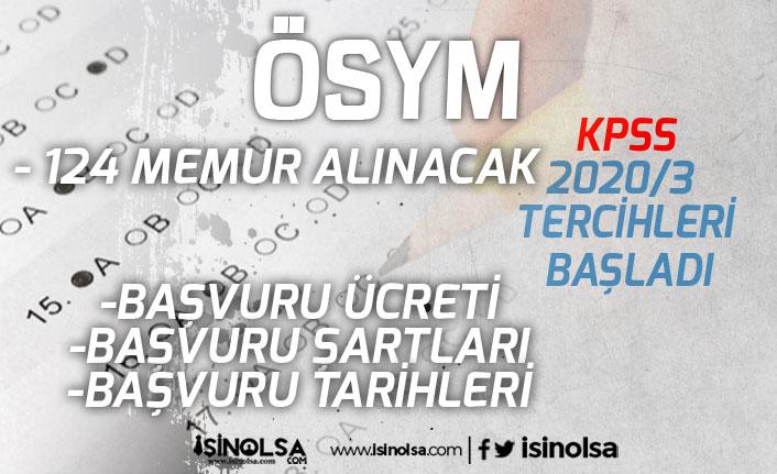 ÖSYM KPSS 2020/3 Tercihleri Başladı! Tapu Kadastro'ya 124 Memur Alımı!