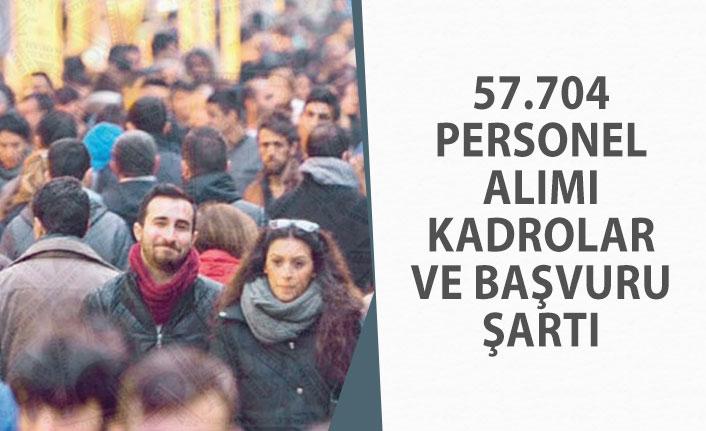 57 Bin 704 Personel Alımı En Çok Hangi Kadrolarda Yapılacak! Başvuru Şartı!
