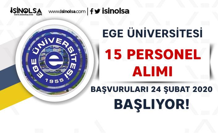 İŞKUR İle Ege Üniversitesi 15 Personel Alacak! Mezuniyete Göre Dağılım?