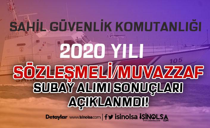 Sahil Güvenlik 2020 Yılı Sözleşmeli/Muvazzaf Subay Alımı Sonuçlarını Açıkladı!
