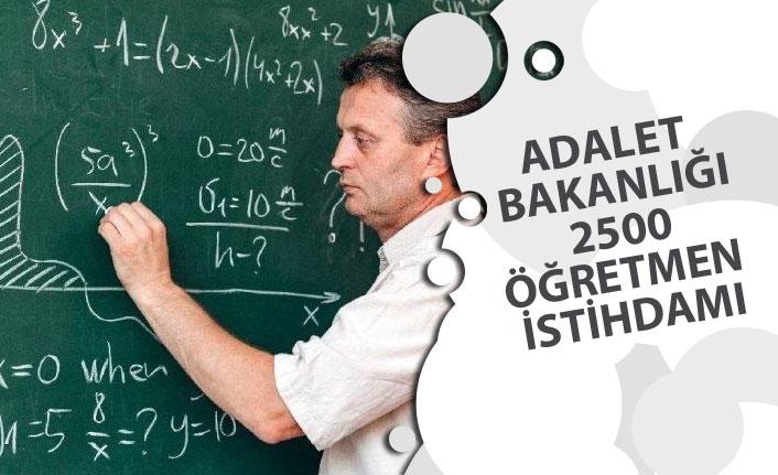 Adalet Bakanlığı ile MEB Protokol Yapıyor! 2500 Öğretmen Alınabilir!