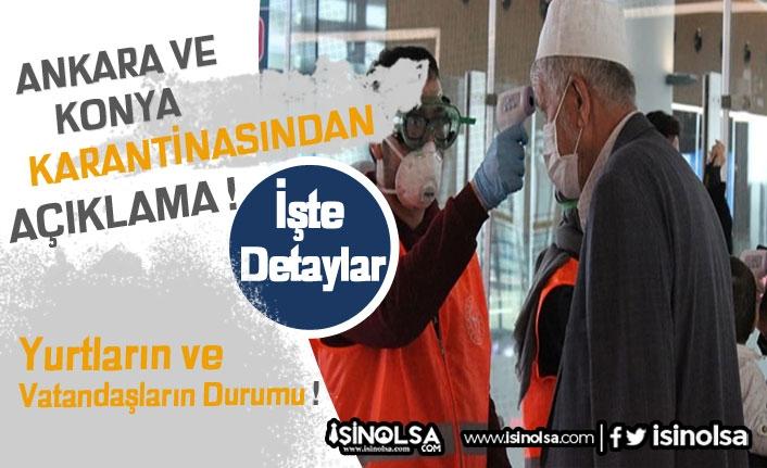 Ankara ve Konya'daki Yurtlarda Virüs Karantinası Açıklaması Yapıldı!