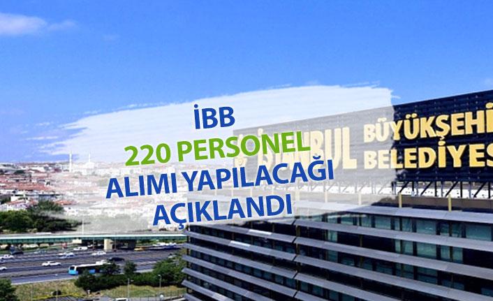 İBB 220 personel Alımı Yapılacağı Açıklandı!