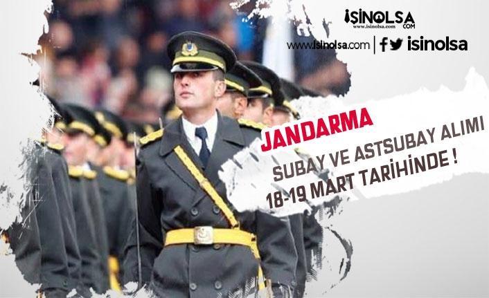 Jandarma JAMYO JSGF Subay Astsubay Alımı 18-19 Mart'ta Son!