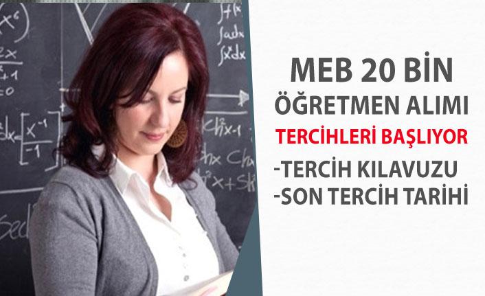 MEB Sözleşmeli 20 Bin Öğretmen Alımı Son Tercih Tarihi, Tercih Kılavuzu!