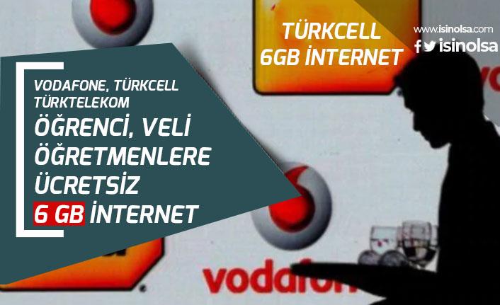 EBA ile Vodafone, Türk Telekom ve Turkcell Ücretsiz 6GB İnternet Tanımlama!