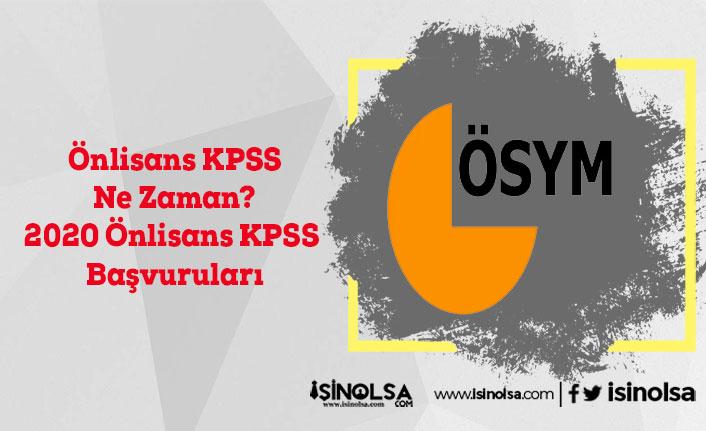 Önlisans KPSS Ne Zaman? 2020 Önlisans KPSS Tarihi Duyuruldu