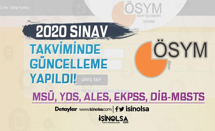 ÖSYM 2020 Yılı Sınav Takviminde Güncelleme Yaptı! 9 Sınav Tarihi Değişti!