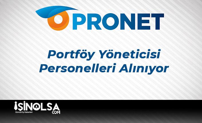 PronetPortföy Yöneticisi Personeli Alımı Yapıyor