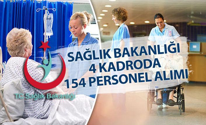 Sağlık Bakanlığına 4 Kadroda 154 Personel Alım İlanı Açıklandı!